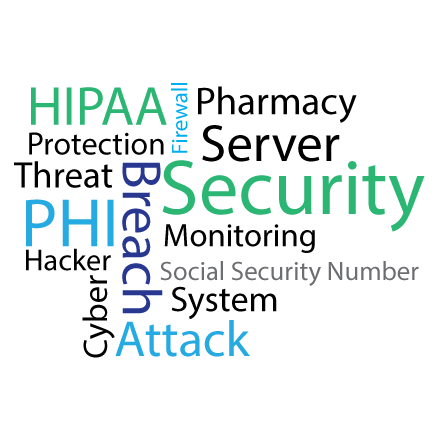 HIPAA Protect Firewall Pharmacy Server Security Monitoring Breach Cyber Threat PHI