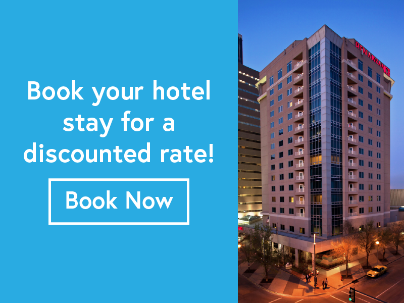 Book your hotel stay at one of our conference hotels to secure a discounted rate.